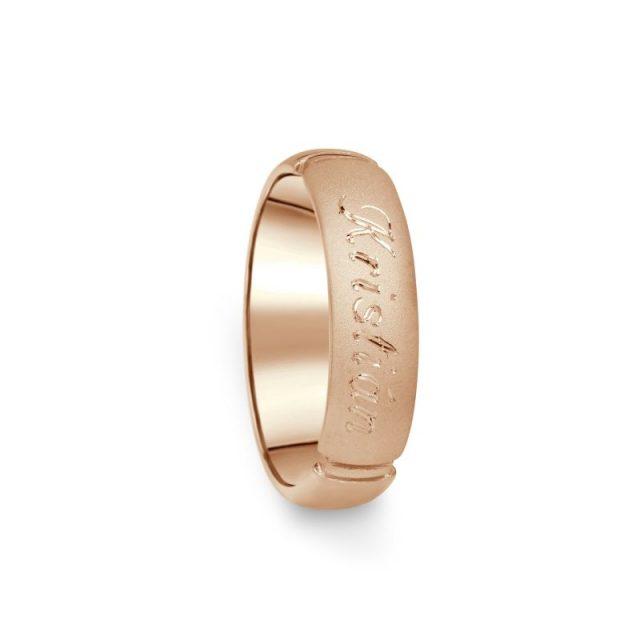 Prsten Danfil DF04/D červené (růžové) zlato 585/1000 bez kamene