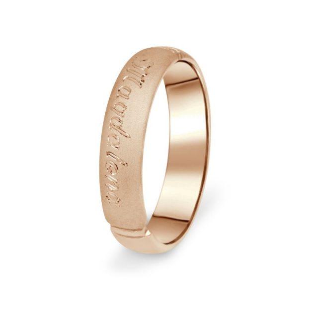 Prsten Danfil DF04/P červené, růžové zlato 585/1000 bez kamene