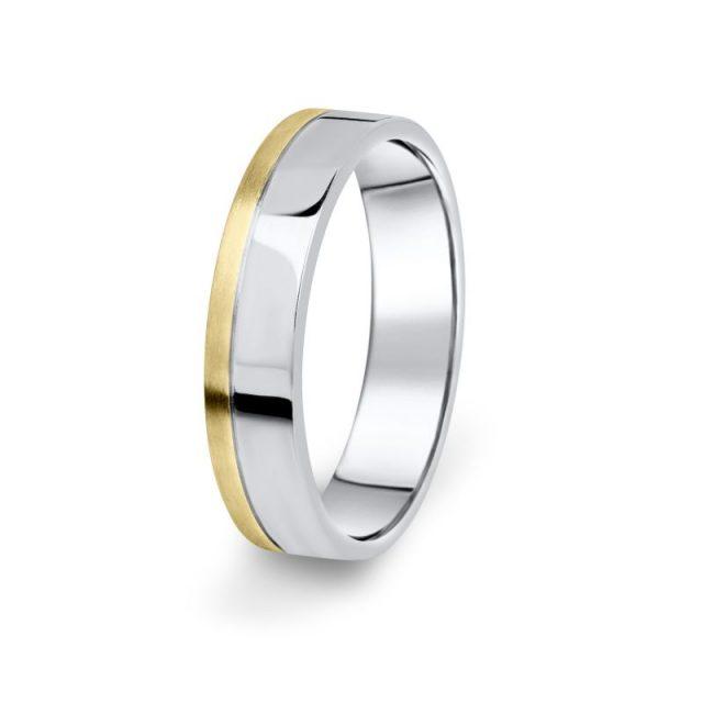 Prsten Danfil DF05/P žluté+bílé 585/1000 bez kamene