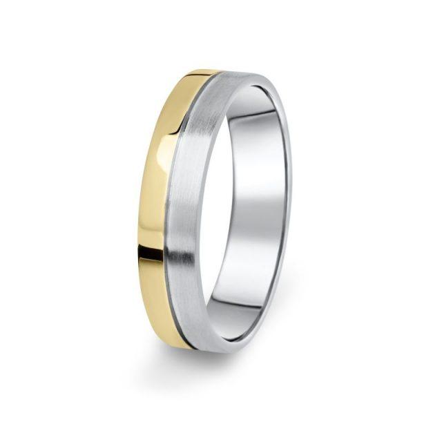 Prsten Danfil DF06/P žluté+bílé 585/1000 bez kamene