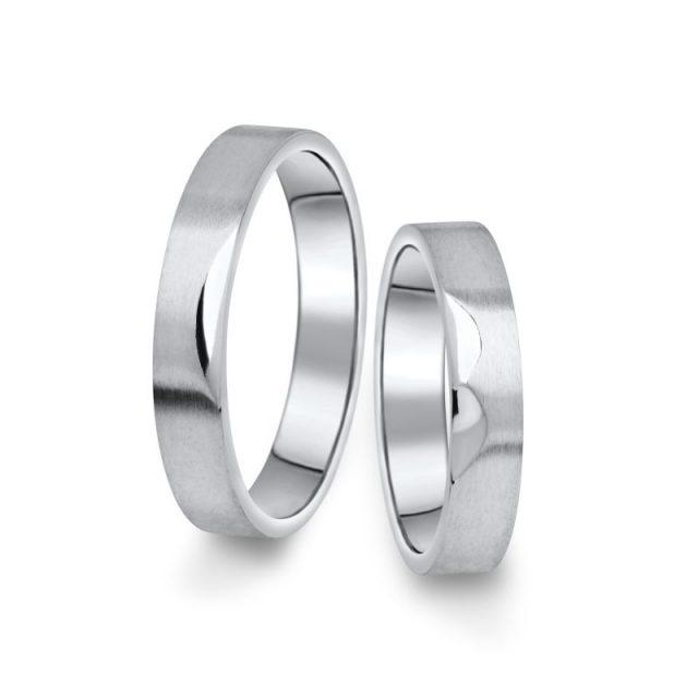 Snubní prsteny z bílého zlata, pár – 15