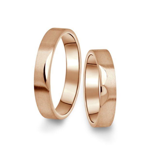 Snubní prsteny z růžového zlata, pár – 15