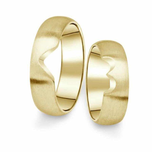 Snubní prsteny ze žlutého zlata, pár – 03