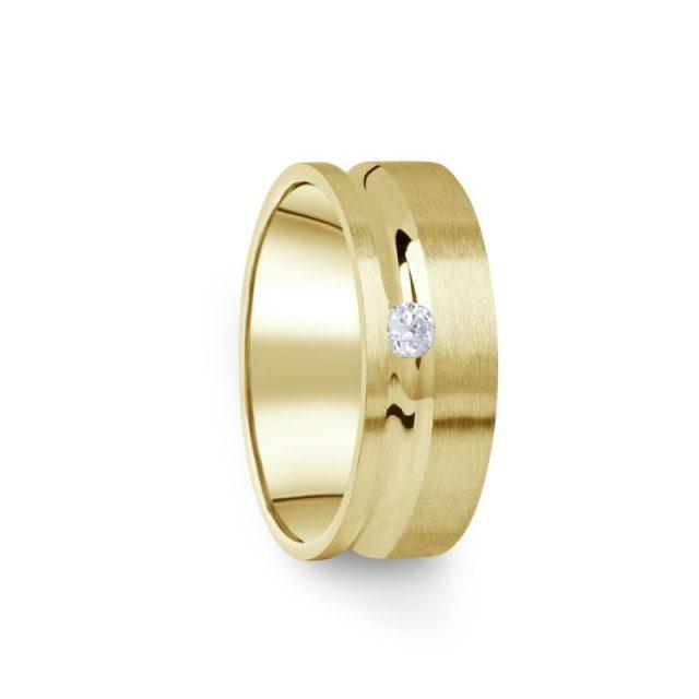 Zlatý dámský prsten DF 07/D ze žlutého zlata s briliantem