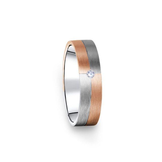 Zlatý dámský prsten DF 09/D s briliantem
