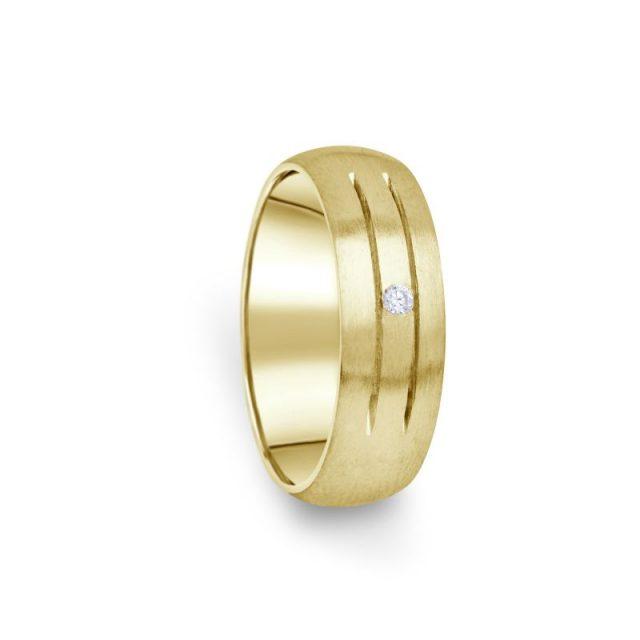 Zlatý dámský prsten DF 13/D ze žlutého zlata s briliantem
