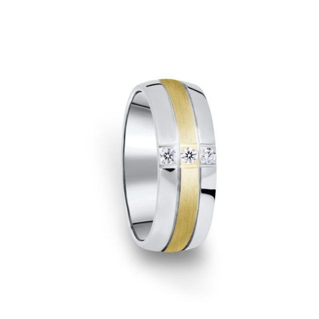 Zlatý dámský prsten DF 14/D se třemi brilianty