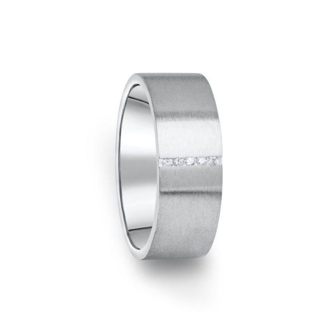 Zlatý dámský prsten DF 17/D z bílého zlata s briliantem