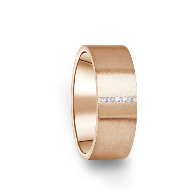 Zlatý dámský prsten DF 17/D z růžového zlata s briliantem