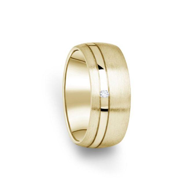 Zlatý dámský prsten DF 18/D ze žlutého zlata s briliantem