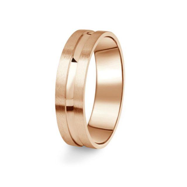 Zlatý pánský prsten DF 08/P z růžového zlata, s briliantem