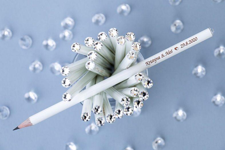 Svatební tužky krystaly Swarovski