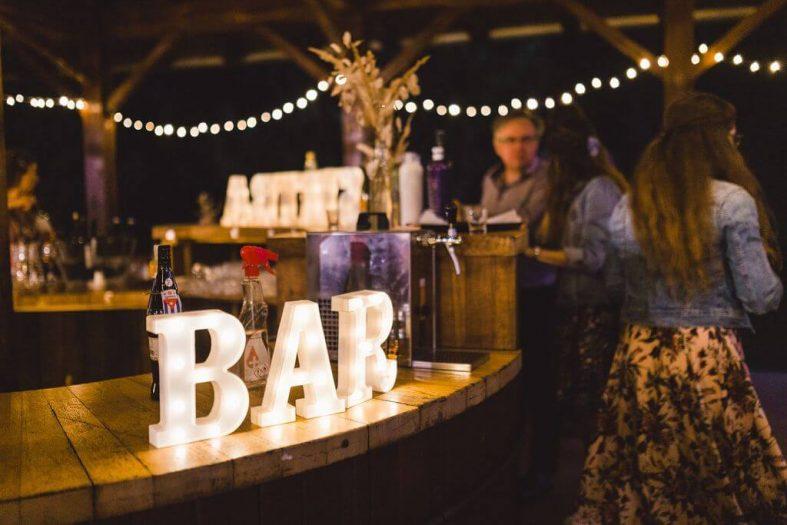 Písmena na svatební bar