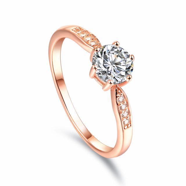 OLIVIE Zásnubní stříbrný prsten DESSERT 5082