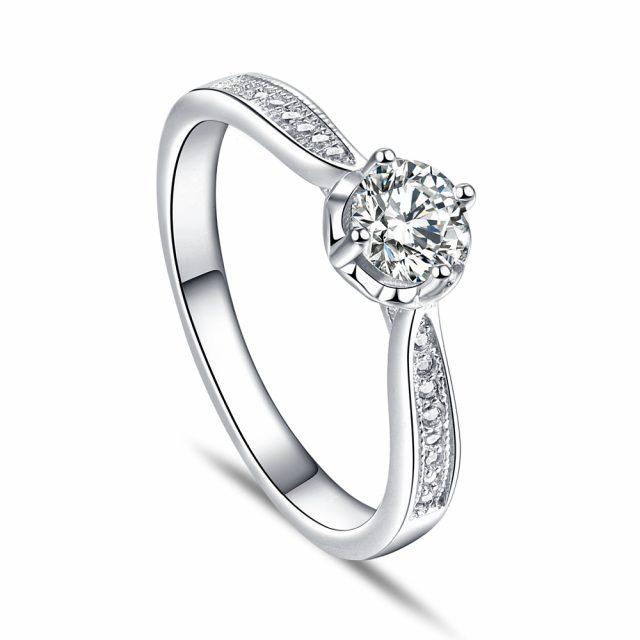 OLIVIE Zásnubní stříbrný prsten PARIS 5080