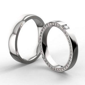 3D vizualizace novomanželských prstenů