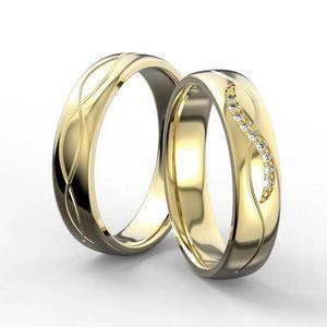 3D vizualizace prstenů ze žlutého zlata