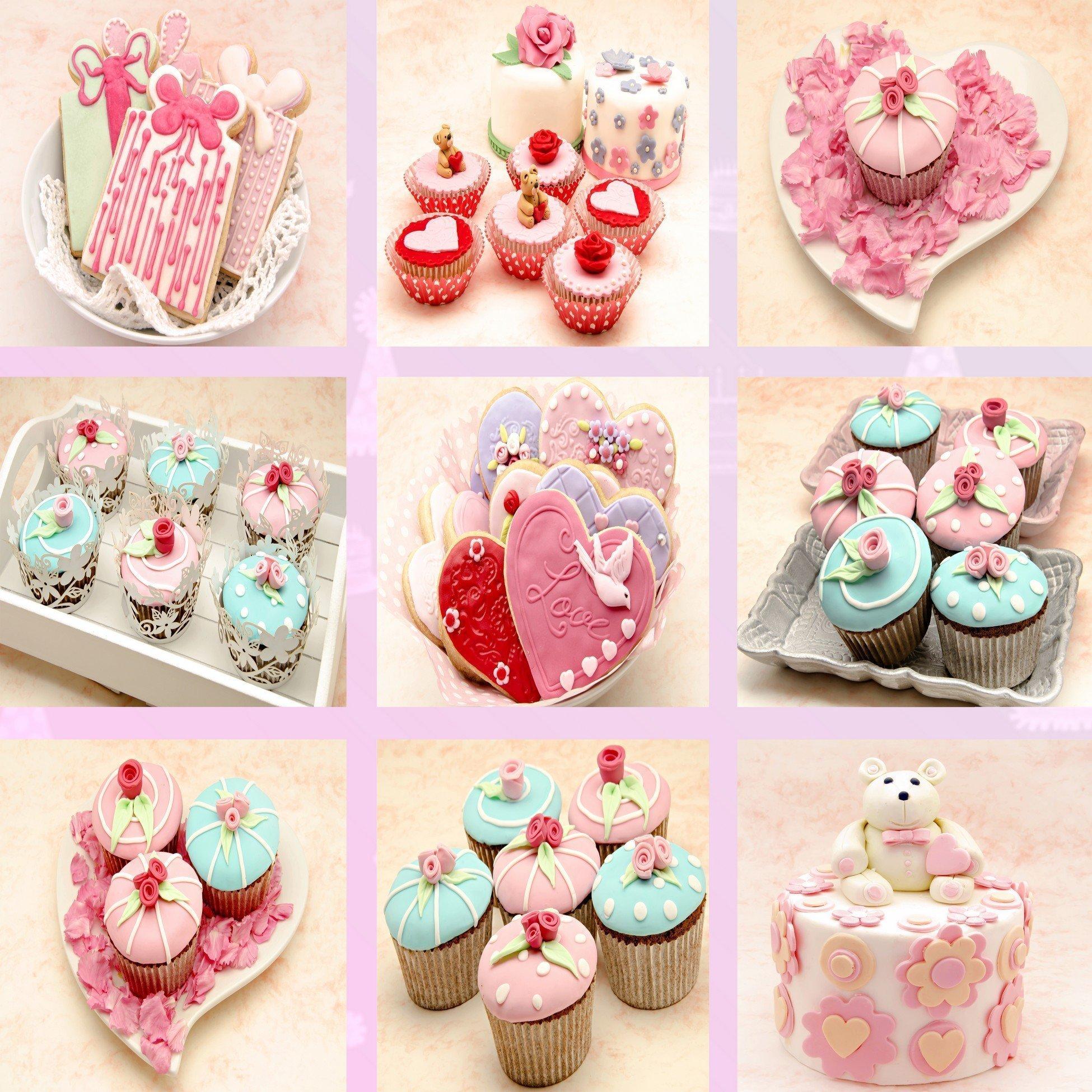 Barevné svatební dortíčky