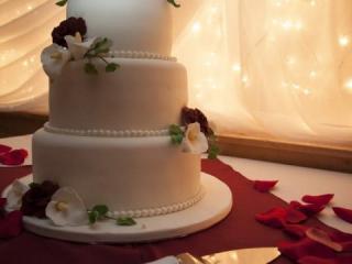 Červená svatební tabule