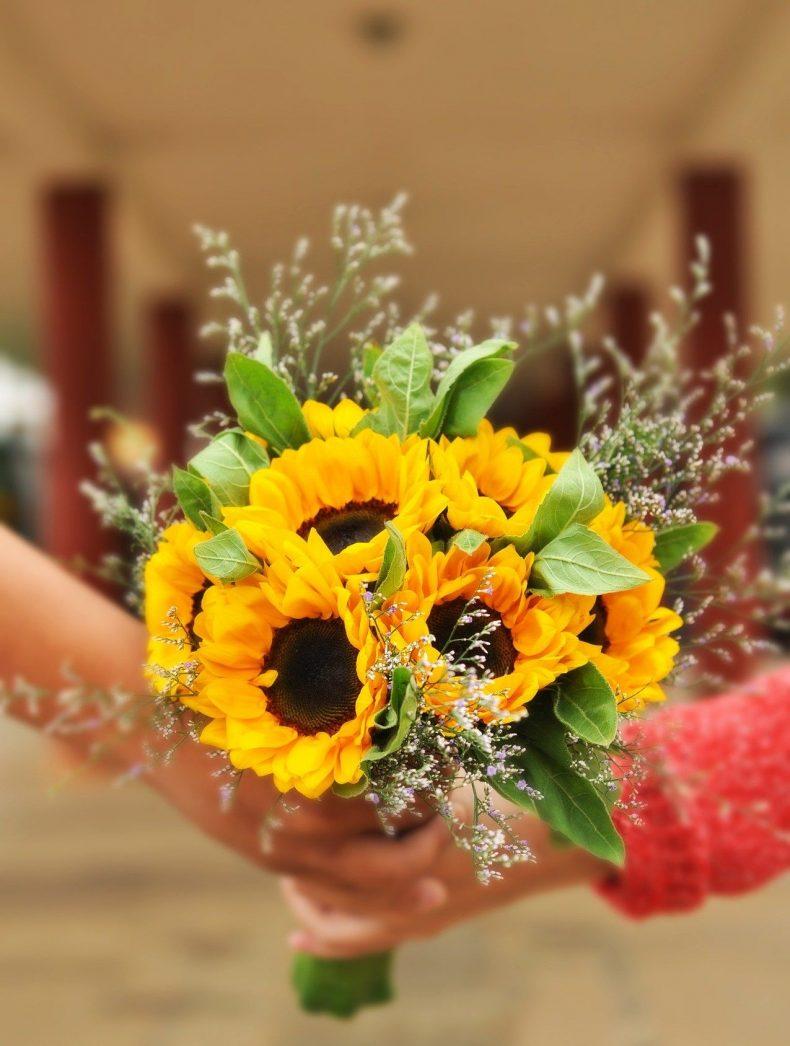 Dárek ke kožené svatbě - slunečnice