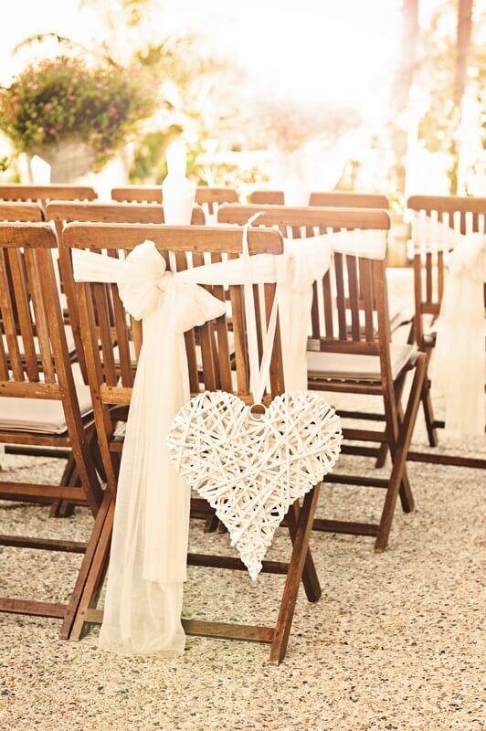 Dekorace svatební židle