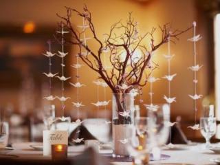 Dekorace zimní svatby