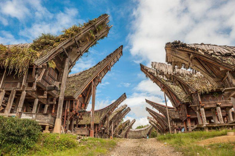 Historické stavby na ostrově Sulawesi