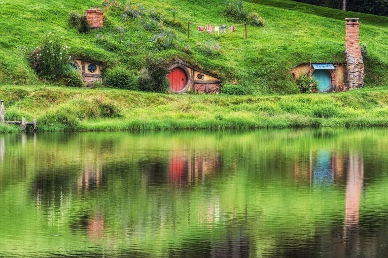 Hobití vesnice Hobbiton, Shire - Nový Zéland