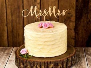 Jednoduchý jednopatrový svatební dort