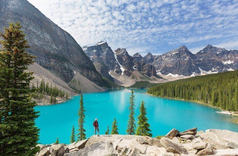 Jezero Moraine, Národní park Banff