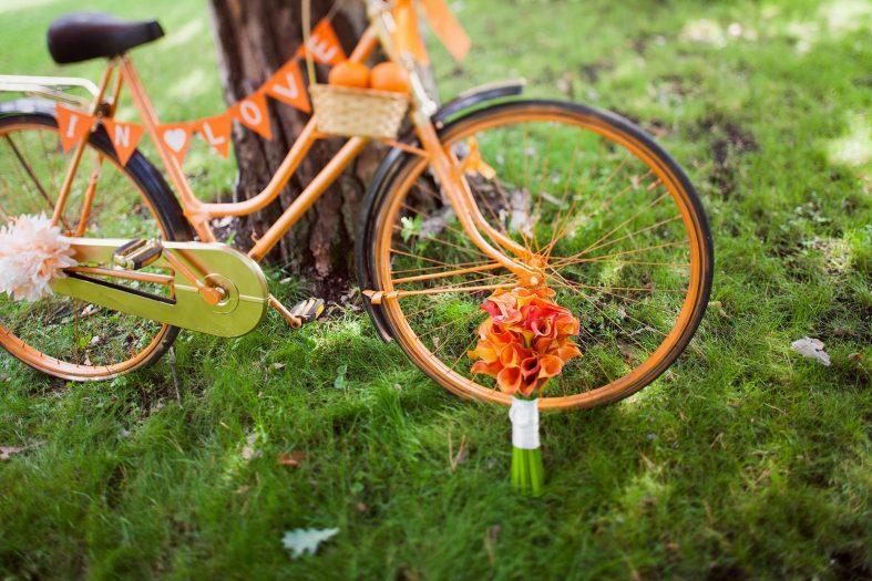 Jízdní kolo, zajímavá svatební dekorace