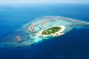 Korálové atoly na Maledivách