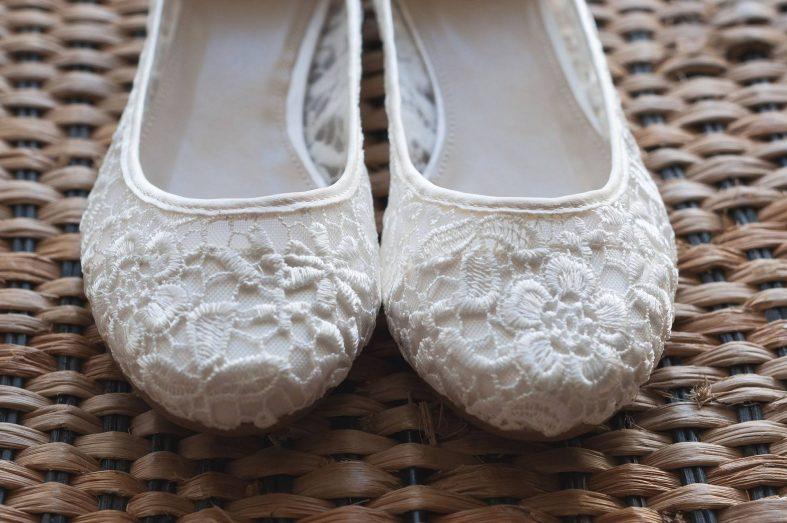Krajkové svatební balerínky