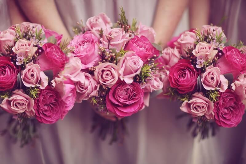 Květiny na svatbě