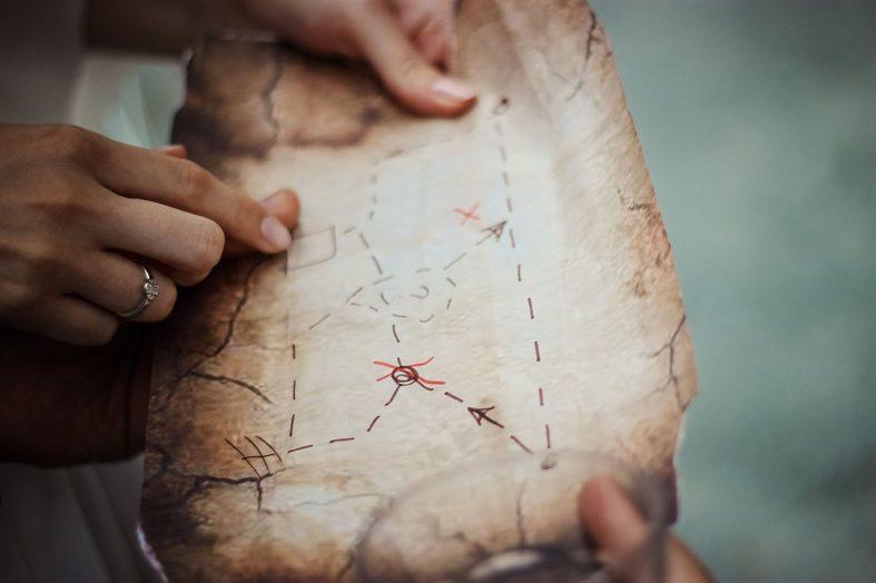 Mapa k uloženému svatebnímu pokladu