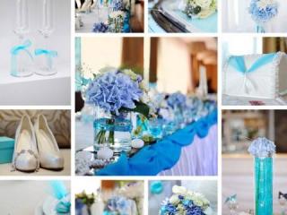 Modrá svatební inspirace