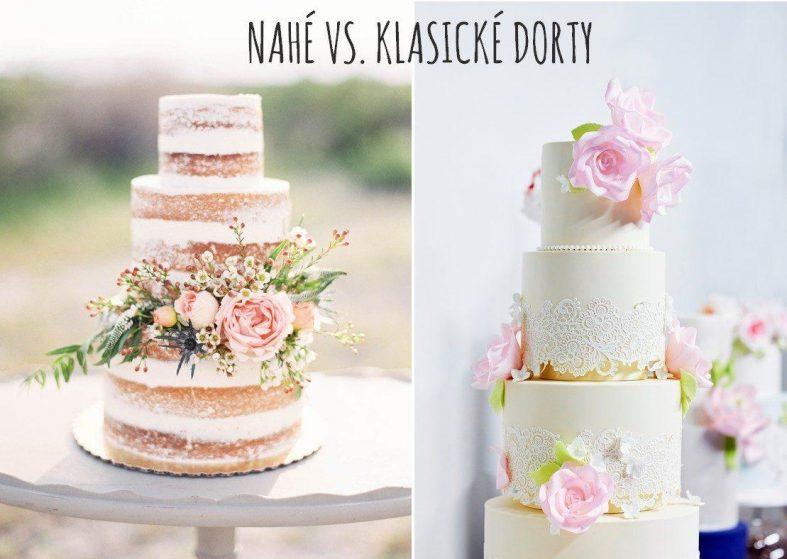 Nahé svatební dorty