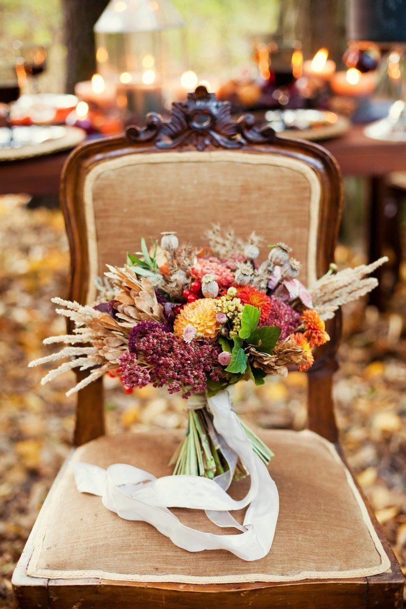 Netradiční svatební kytice boho svatba