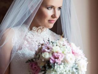 Nevěsta se svatební kyticí - Šeiner