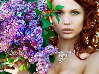 Nevěsta s kyticí šeříku