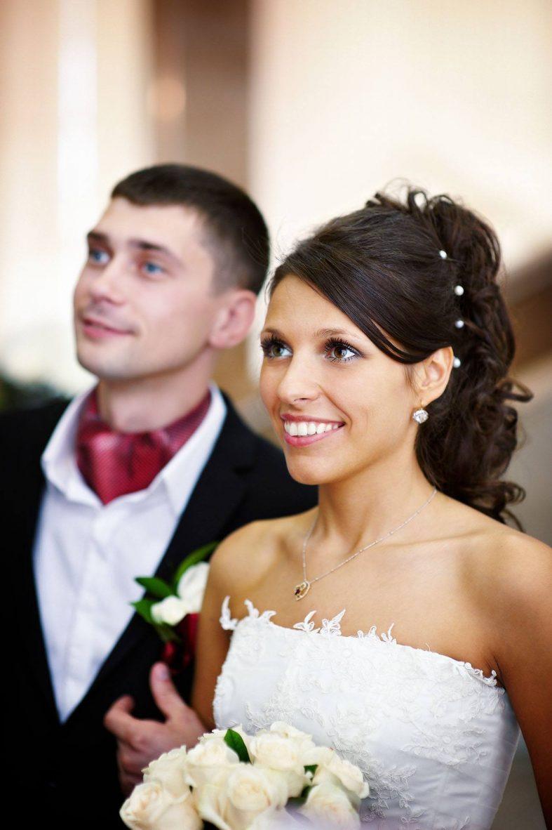 Nevěsta s ženichem při obřadu
