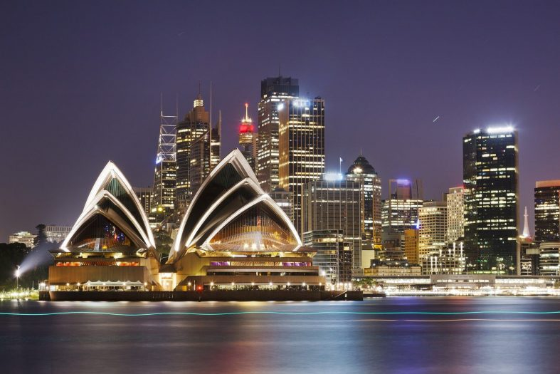 Noční opera Sydney