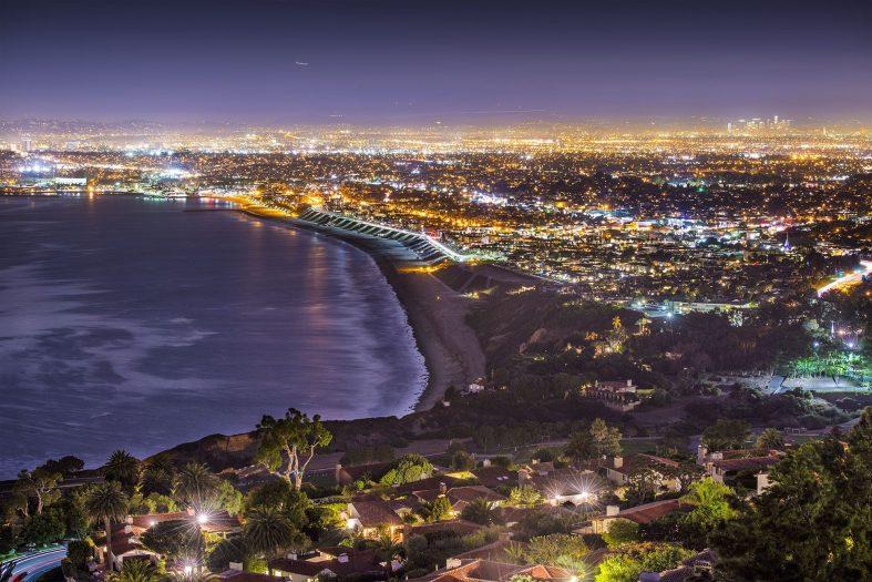Noční pohled na Los Angeles
