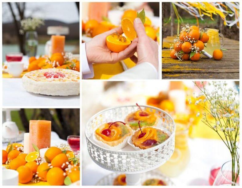 Oranžová svatební inspirace