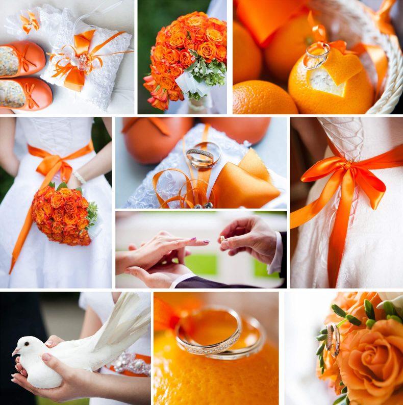 Oranžovo bílá svatba