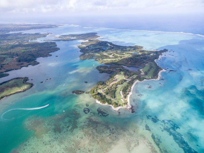 Ostrovy Ile aux Cerfs Deer Mauricius