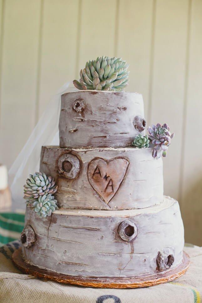 Patrový dort s imitací dřeva