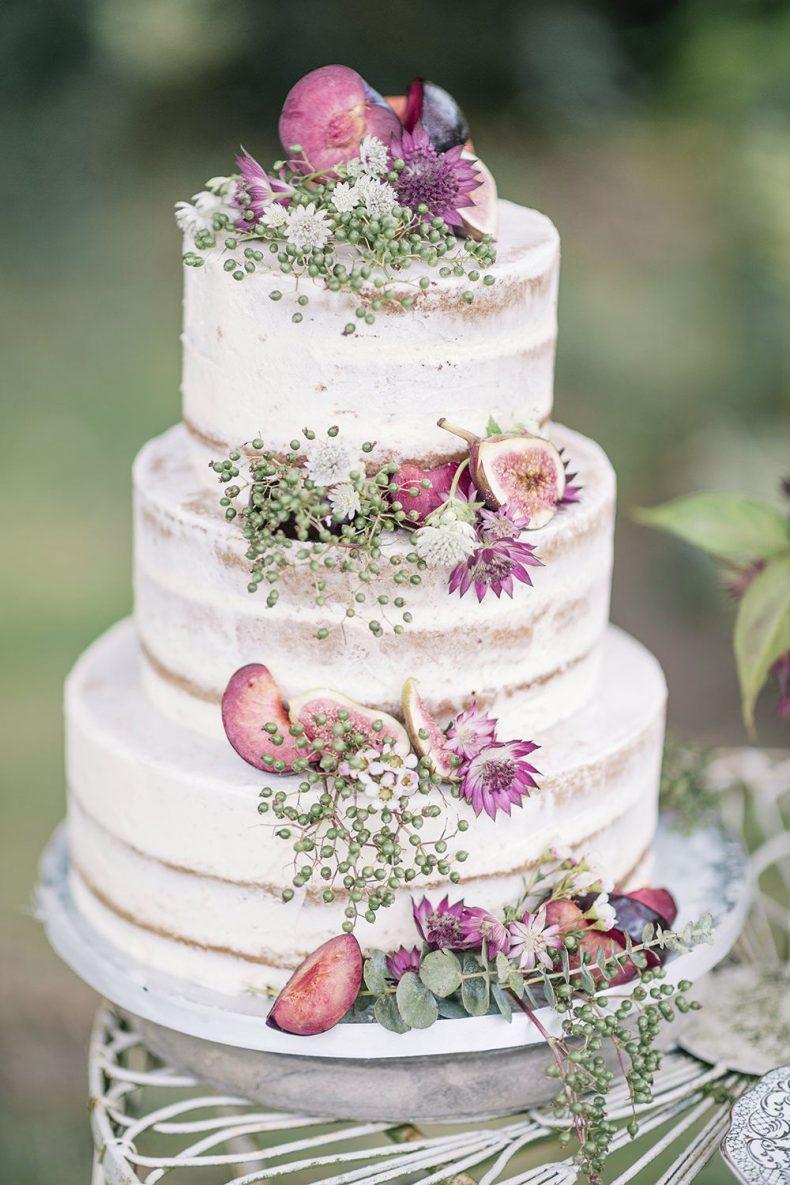 Patrový nahý svatební dort