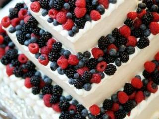 Patrový svatební dort