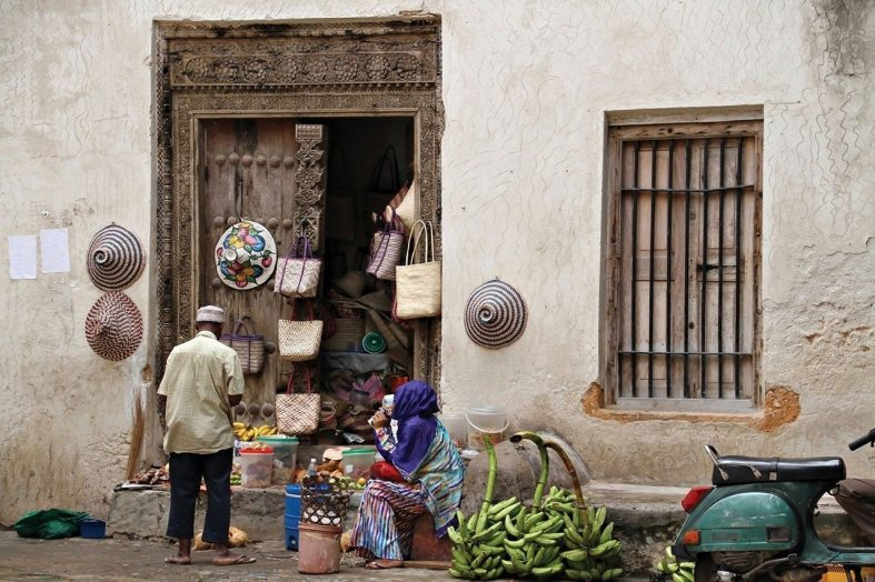 Pouliční prodej na Zanzibaru